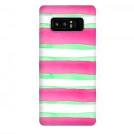 Galaxy Note 8  Peppermint Candy by  (peppermint,stripes,green,pink,summer)