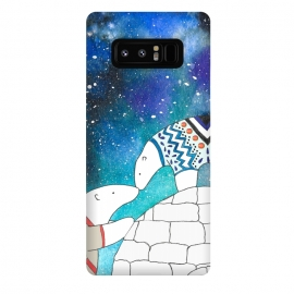 Galaxy Note 8  Love Under The Stars by Amaya Brydon (polarbear,bear,love,sky,north,igloo,winter)