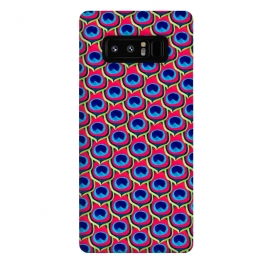 Galaxy Note 8  Retro Peacock by Amaya Brydon (peacock,feathers,pattern,retro)