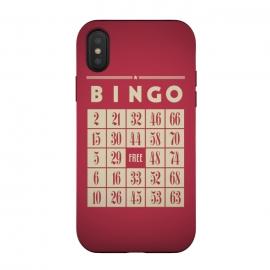 iPhone Xs / X  Bingo! by  (games,hobby,tabletop game,retro,bingo,numbers,vintage,geek)