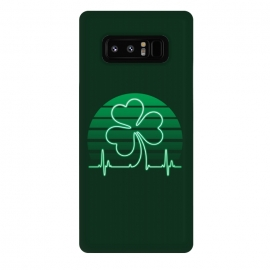 Galaxy Note 8  IRISH-HEART by  (IRISH,ST.PATRICK'S-DAY,CLOVER,HEART,cardiogramm)