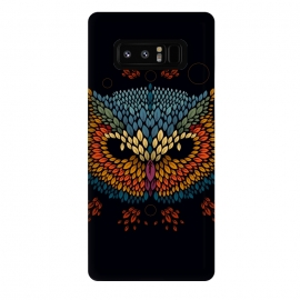 Galaxy Note 8  Owl Face by  (vector,animal,owl,leaves,leaf,pattern,nature,bird,geometric)