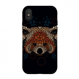 Red Panda Face by Q-Artwork (red panda,nature,panda,cute,vector,pattern,leaves,leaf,geometric)