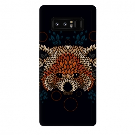 Galaxy Note 8  Red Panda Face by Q-Artwork (red panda,nature,panda,cute,vector,pattern,leaves,leaf,geometric)