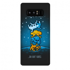 Galaxy Note 8  Cute Invaders by Q-Artwork (cute,kawaii,space invaders,video game,space,gamer,alien,planets)