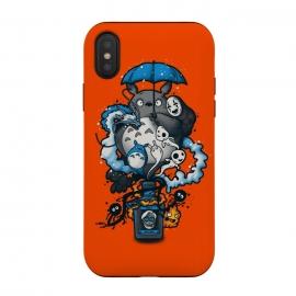 iPhone Xs / X  Bottled Spirits by  (spirits,miyazaky,ghibli,totoro,no face,spirited away,calcifer,haku,anime,japan,movies,animation)