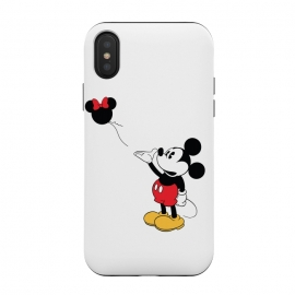 iPhone Xs / X  Baloon by Alisterny (MickeyMouse, Mickey, Banksy, Ballon, Streetart, Disney,mashup, mashups, funny, popculture, funnytshirt, funnyshirt, tshirt, parody, nerd, geek, geeky, humor, humour, fanart, fan art, movies, movie, film, quotes, cool, design, tee, t-shirt)