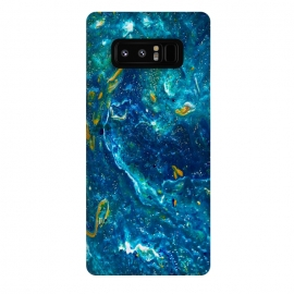 Galaxy Note 8  AC11 by Ashley Camille (glitter,abstract,gold,blue,painting,paint)