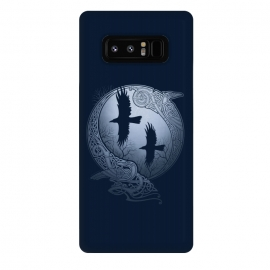 Galaxy Note 8  ODIN'S RAVENS by RAIDHO (ODIN,ODIN'S RAVENS,HUGIN AND MUNIN,MOON,NORDIC MYTHOLOGY,VIKINGS,KNOTWORK,RAVENS)