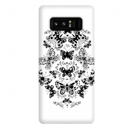 Galaxy Note 8  Ink butterfly by Laura Grant (butterfly,floral,pattern,pretty,black and white)