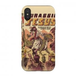 iPhone Xs / X  JURASSIC JESUS by  (jesus , funny , dinosaur , retro , t-rex , jurassic , prehistoric , wtf , hilarious)