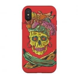 iPhone Xs / X  Carmen Death by  (music , musical , rock , pop , song , culture , carmen-miranda , skull , death , skeleton , skulls , dead , halloween , dark)