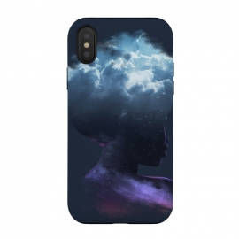 iPhone X  HEAD ON THE CLOUDS by Ilustrata