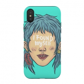 iPhone Xs / X  I found myself by  (lettering , words , phrase , message , hyde , coolest , word , typo , blue , found , myself , handlettering)