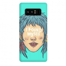 Galaxy Note 8  I found myself by  (lettering , words , phrase , message , hyde , coolest , word , typo , blue , found , myself , handlettering)