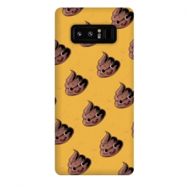 Galaxy Note 8  Kawaii Poop by  (poop,kawai,kawaii,yellow,funy,funny,vintage,pattern,hand draw,cute,cool)