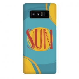 Galaxy Note 8  Hot Sun on Blue Sky by  (sun,summer,spring,hot,beach,sea,party,warm,fresh,typographic,text,hipster,trendy,cheerful,colorful,good vibes,paint,oil paint,brush,paint brush,art,artistic)