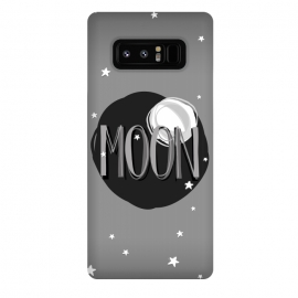 Galaxy Note 8  Bright Moon & Stars by Dellán (moon,full moon,typographyc,text,stars,space,ufo,planets,astrology,milky way,black and white,sun,night,dark,darkness,astronaut,trendy,nerd,geek,hipster)