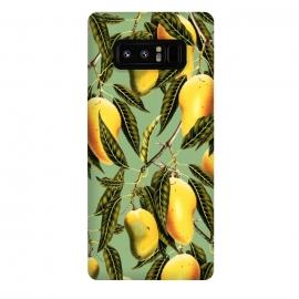 Galaxy Note 8  Mango Season by  (aerosol, other, pattern, realism, mango, mangoes, tropical, fruit, delicious, sweet, greenery, nature)