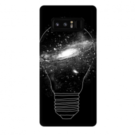 Galaxy Note 8  Sparkle by  (sparkle,light bulb,idea,ideas,line,linework,space,galaxy,star,astronaut,moon,science,particle,earth)