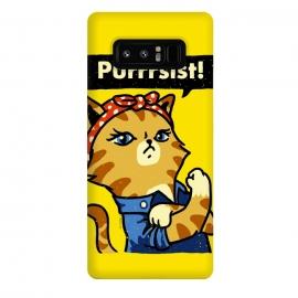 Galaxy Note 8  Purrrsist! by  (cat,cats,kitten,poster,propaganda,vintage,world war,rosie,riveter,rosie the riveter,feminist,feminism,girl,power)
