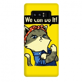 Galaxy Note 8  We Can Do It! Purrrsist! by  (cats,cat,vintage,poster,propaganda,war,world,animal,cute,feminist,feminism,girl,power)