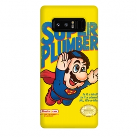 Galaxy Note 8  Super Plumber by  (super mario,video game,video,game,games,superman,hero,super hero,comics,nintendo,tv,television,pop culture)