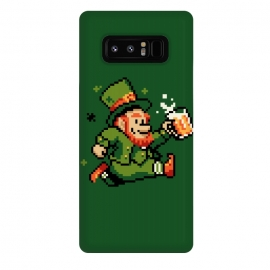 Galaxy Note 8  Leprechaun by  (leprechaun,pixel,art,computer,video,game,video game,mario,super,nintendo,nostalgia,irish,shenanigans,shamrock)