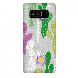 Galaxy Note 8  Neutral Cakti by Kimrhi Studios (Cactus,cacti,succulent,geometric)