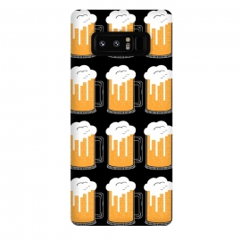 Galaxy Note 8  CITY BEER PATTERN by Coffee Man (beer,city,cerveza,landscape,glasser,birra,bar,drink)