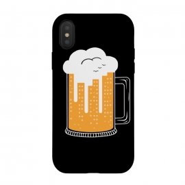 iPhone Xs / X  CITY BEER by  (city, beer,birra,landscape,urbarn,funny,bar,cerveza,cloud,birds,building,glasses)