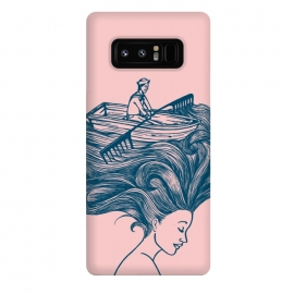 Galaxy Note 8  Mermaid Hair by Coffee Man (hair,boat,summer,beach,ocean,sea,navigating,sunset,vacation,spring bread,woman,lady,girl,vintage,funny,humor)