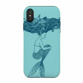 iPhone Xs / X  Mermaid Hairs by  (Mermaid,little mermaid,sea,hair,ocean,beach,summer,vacation,spring break, boat,navigating,marine,sirena,funny,humor,cool,cute,surreal)