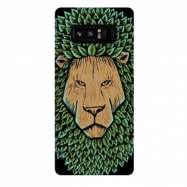 Galaxy Note 8  Wood Lion by Coffee Man (lion,animal,nature,wild,green,tree,wood,leave,king,strong,lion king,africa)