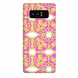 Galaxy Note 8  The Spirit of the Flower by Bettie * Blue (spiritual,mandala,flower,floral,pattern,pink,pink and yellow)