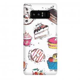 Galaxy Note 8  Dessert Love by  (cake,pastry,sweet,dessert,food,illustration,art,graphic,print)