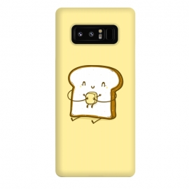 Galaxy Note 8  Bread & Butter by Xylo Riescent (Robo Rat,food with faces,funny,hug,bread,butter,love,embrace,yellow,kids,cool,awesome)