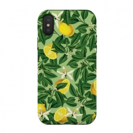 iPhone Xs / X  Lemonade V2 by  (graphic, acrylic, other, pattern, vector, botanical, lemon, lemons, fruit, food, citrus, exotic, floral, nature)