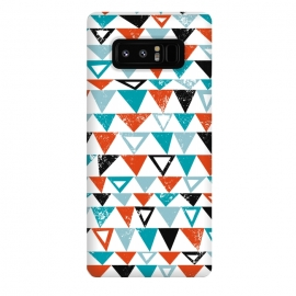 Galaxy Note 8  Buddy by Rhiannon Pettie (triangle, modern,texture,geo, turqoise,teal)