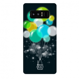 Galaxy Note 8  Colorful Exile by  (colorful,colors,exile,balloons,clouds,stars,nature,surreal)
