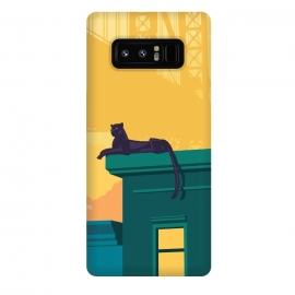 Galaxy Note 8  Urban jaguar by Roland Banrévi (city,buildings,animals,jaguar,animal,bridge)