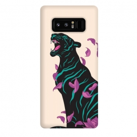 Galaxy Note 8  Black tiger by Roland Banrévi (tiger,lotus,flower,animal,animals)
