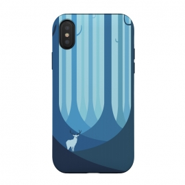 iPhone Xs / X  Blue forest by Roland Banrévi