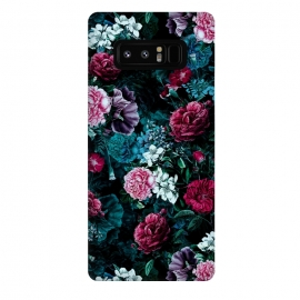 Galaxy Note 8  Floral Pattern IV by Riza Peker (Floral,Dark,Print,Pattern,botanical,flowers,RizaPeker)