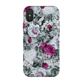 iPhone Xs / X  Floral Pattern V by  (flowers,roses,romantic,art,design,RizaPeker)