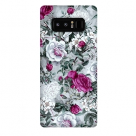 Galaxy Note 8  Floral Pattern V by Riza Peker (flowers,roses,romantic,art,design,RizaPeker)