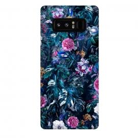 Galaxy Note 8  Floral Pattern VII by  (Botanical,flowers,tropical,dark,art,RizaPeker)