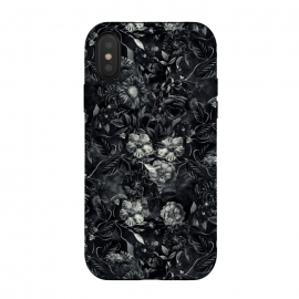 iPhone Xs / X  Floral Pattern IX by  (Botanical,Flowers,Blackandwhite,art,artist,design,RizaPeker)