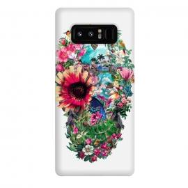 Galaxy Note 8  Summer Skull II by  (skull,art,birds,butterflies,digital,design,rizapeker)