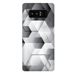 Galaxy Note 8  Black Geometrics  by Rui Faria (geometric,pattern,shapes,black and white,minimal,clean)